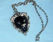 Vintage Black Lion Necklace