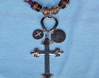 Three Cross Necklace