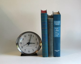 Vintage Set of Three Blue Hardcover Books - Home Decor - blues