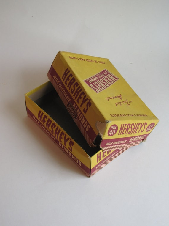 Vintage Candy Box - Hershey's Chocolate box - yellow and maroon
