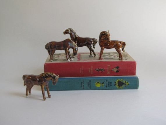 Vintage Horse Figurine Collection - Set of Four