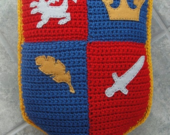 PDF Crochet Pattern - Mack The Knight Pillow Instant Download