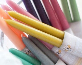 "Hand Dipped Taper Candles - Unscented -  12"" (6 pair box)"