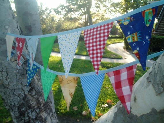 Boy Bunting Banner Garland- boys will be boys- Red, Yellow, Blue, Green