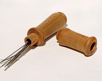 """Needle Case in Reclaimed Maple. 3/4"""" - 1"""" Diameter by 4 1/2"""" Long."""