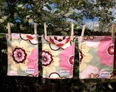 Alexander Henry Floral Reusable Wipes, Wash Cloths Etc... Ready To Ship