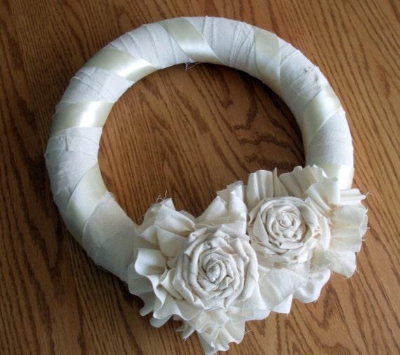 Muslin Rosette Wreath