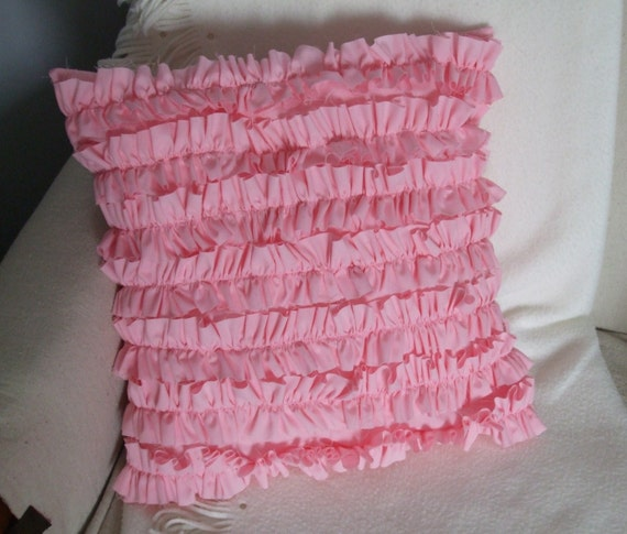Pink Ruffled Pillow