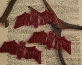 RTN19 Bat Pendant in Wine