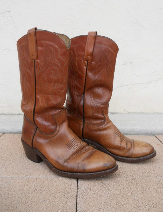 RESERVED for Jeff Vintage 70s FRYE Rustic Two-Tone Western Boots Sz 10.5