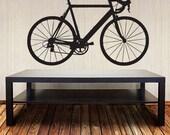 Bicycle Wall Decal- Racing Road Bike - Vinyl Sticker