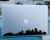 Phoenix Skyline Decal - Vinyl Sticker - For Car, Window,  Laptop, Wall