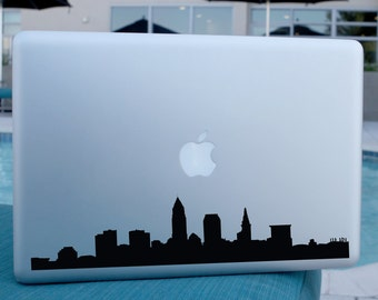 Cleveland Skyline Decal - For Car Windows,  Laptops, Walls etc.