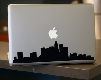 Los Angeles Skyline Decal - Vinyl Sticker - For Car, Window,  Laptop, Wall