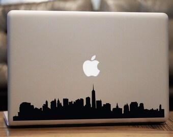 New York Skyline Decal - Car Window, Laptop, Wall