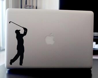 Golfer Decal, Vinyl Sticker, For Car Window, Laptop, Wall