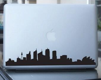 Sydney Skyline Decal - Australia Vinyl Sticker - For Car, Window, Laptop, Wall