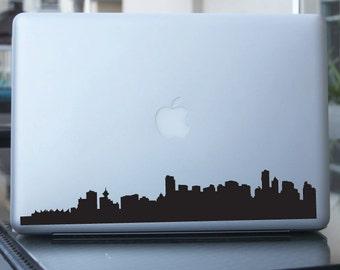 Vancouver Skyline Decal - Sticker - Canada - Car, Window, Laptops, Wall