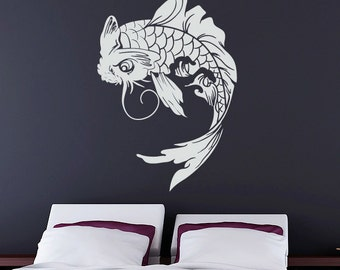 Koi Fish Wall Decal - Japanese Vinyl Sticker
