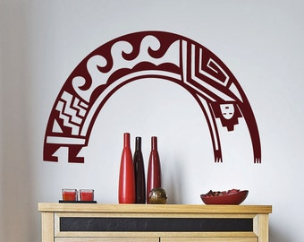 "Native American Wall Decal "" Arching Man"" -  Vinyl Sticker- (44"")"