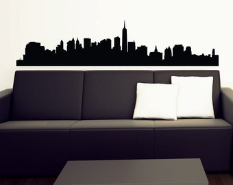 New York Skyline Wall Decal - Vinyl Sticker -  Free Shipping