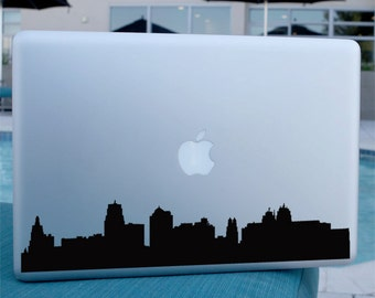 Kansas City Skyline Decal - Vinyl Sticker - For Car, Window,  Laptop, Wall