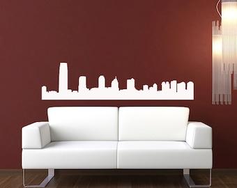 New Jersey Skyline Wall Decal - Vinyl Sticker - Free Shipping