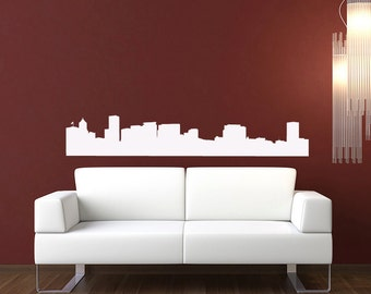 Portland Skyline Wall Decal - Vinyl Sticker - Oregon