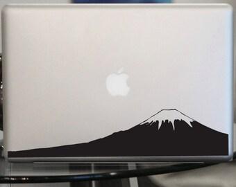 Mount Fuji Decal - Mt. Fuji Japan Sticker - Car Window, Laptop,