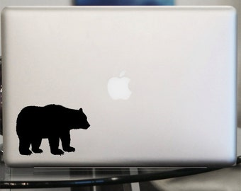 Bear Decal - Vinyl Sticker - For Car, Window, Laptop, Wall , Brown, Grizzly