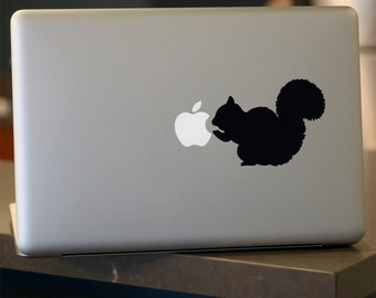 Squirrel Decal - Vinyl Sticker - For Car, Window, Laptop, Wall , Brown, Grizzly
