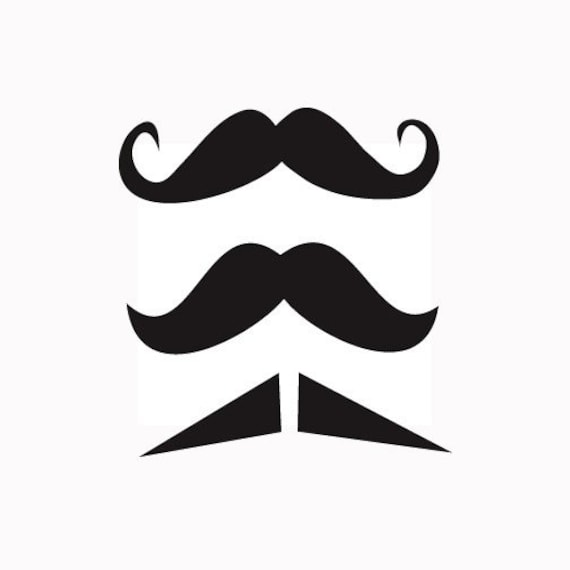 Mustache Decal, Vinyl Sticker - 3 PACK, For Car Window, Laptop, Wall