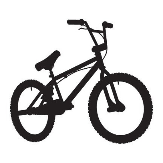 BMX Bike Decal - Vinyl Sticker -For Car, Window, Laptop, Wall
