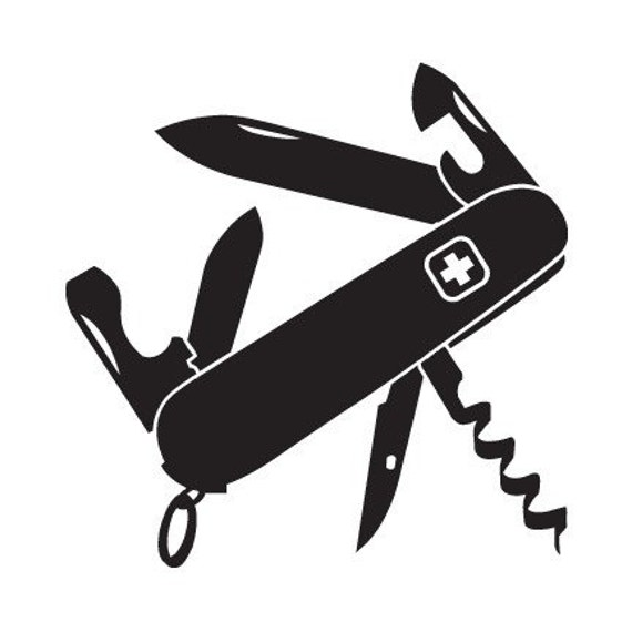 Swiss Army Knife Decal For Car Windows Laptops Walls Etc