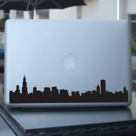 Chicago Skyline Decal Sticker Car Window Laptops Wall - Window stickers for cars chicago