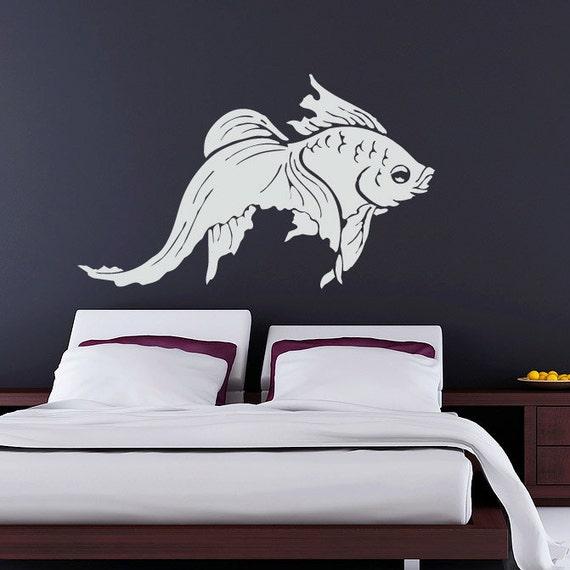 Goldfish Wall Decal  - Vinyl Sticker