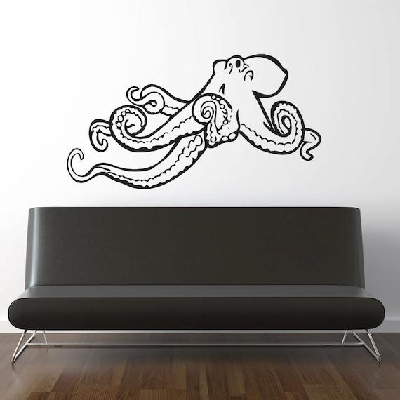 octopus wall decal vinyl sticker kids room nursery play. Black Bedroom Furniture Sets. Home Design Ideas
