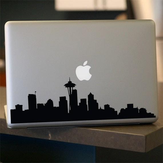 Seattle Skyline Decal - Vinyl Sticker - For Car, Window,  Laptop, Wall