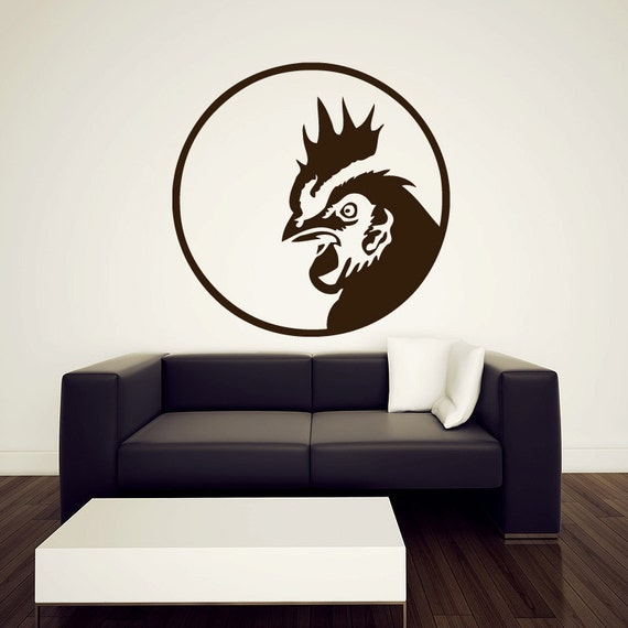 Rooster Wall Decal Vinyl Sticker 36 By Urbandecal On Etsy
