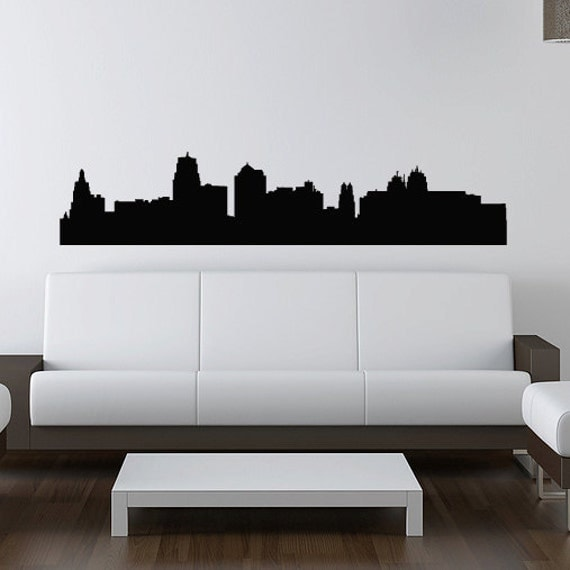 Kansas City Skyline Wall Decal Vinyl Sticker Missouri - Custom vinyl stickers kansas city