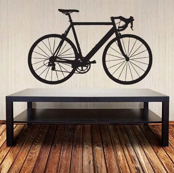 Bicycle Wall Decal Racing Road Bike Vinyl Sticker - Custom vinyl decals bicycle