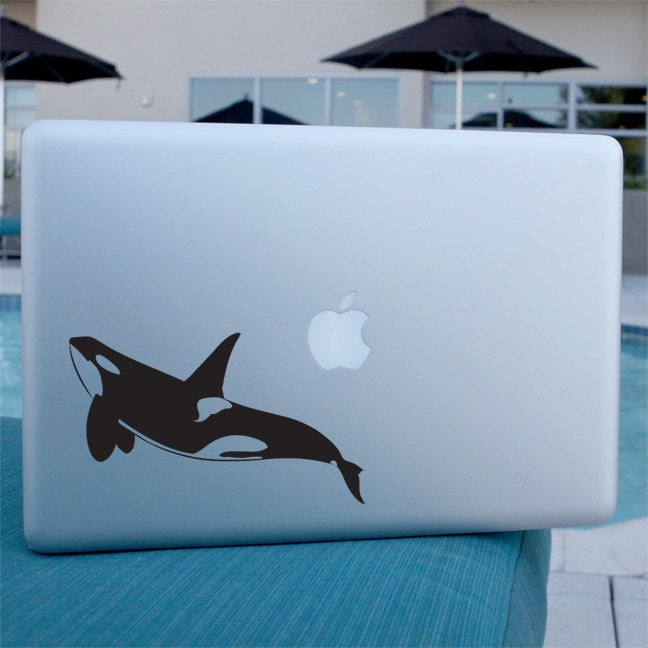 Orca Whale Decal Vinyl Sticker For Laptop Car Window