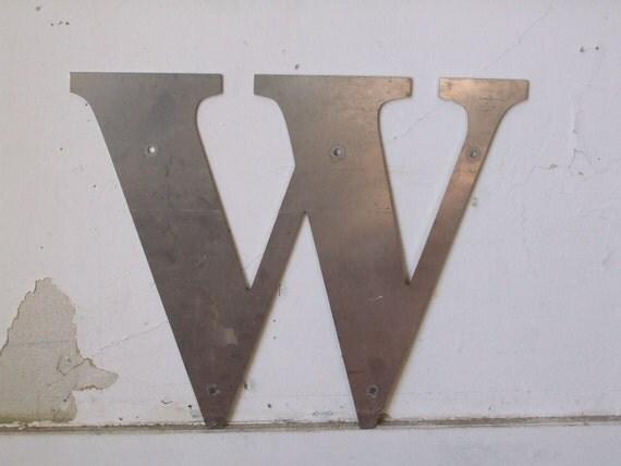 industrial letter w