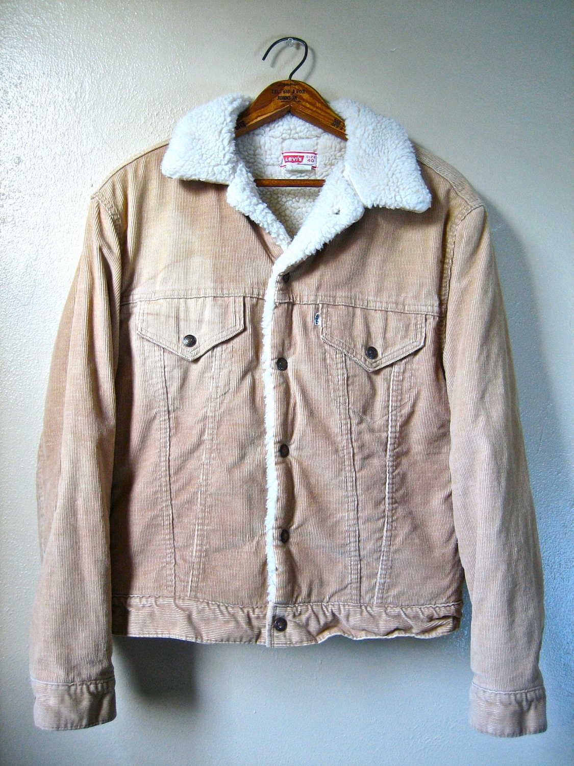 Vintage 70s Levi S Sherpa Corduroy Jacket Small By