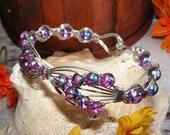 Butterfly Cuff Bracelet ... Purple Butterfly Dreams