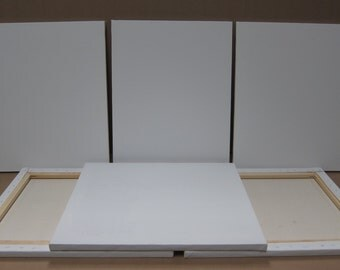 Hand Crafted, 16 x 20 Stretched Artist Canvas, Edge-Wrapped - Pack of 6