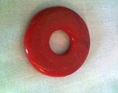 RESERVED FOR SHEA from FuddyDud Destash Lot of 4 Cinnabar 40mm Donut Pendant