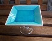 Turquoise Cupcake Stand/Dessert Pedestal