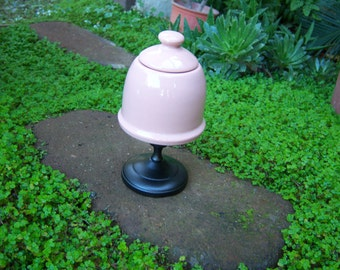 Vintage Inspired Pink Honey Pot Sugar Bowl or Storage Container