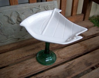 White Sailboat Shaped Cupcake Stand or Dessert Pedestal